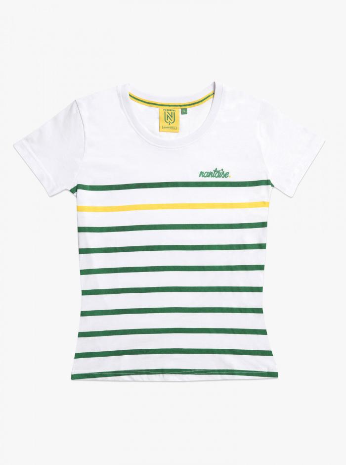 T-shirt FC Nantes Marinière Fille