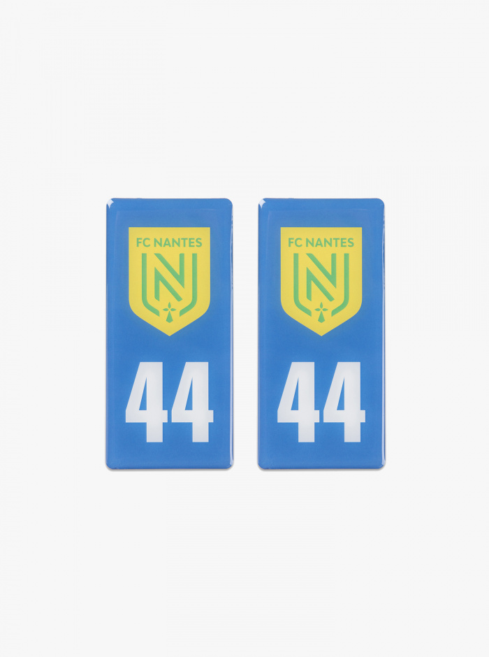 2 Stickers Plaque Auto FC Nantes