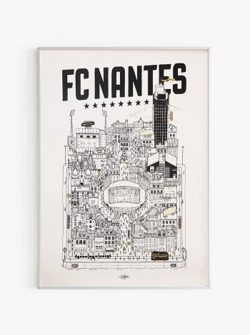 Illustration FC Nantes x Docteur Paper - Edition Limitée Phosphorescente