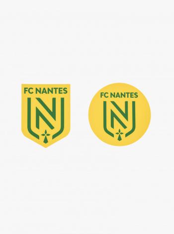 2 Autocollants FC Nantes Jaune