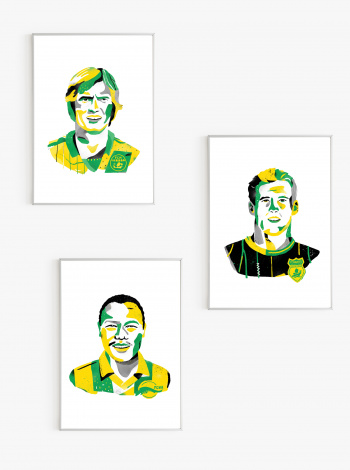 Pack 3 Illustrations FC Nantes