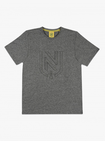 T-shirt FC Nantes Embossé Gris Femme