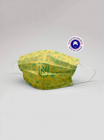 Masque FC Nantes Riri Junior Jaune