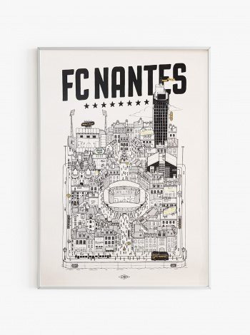 Illustration FC Nantes x Docteur Paper